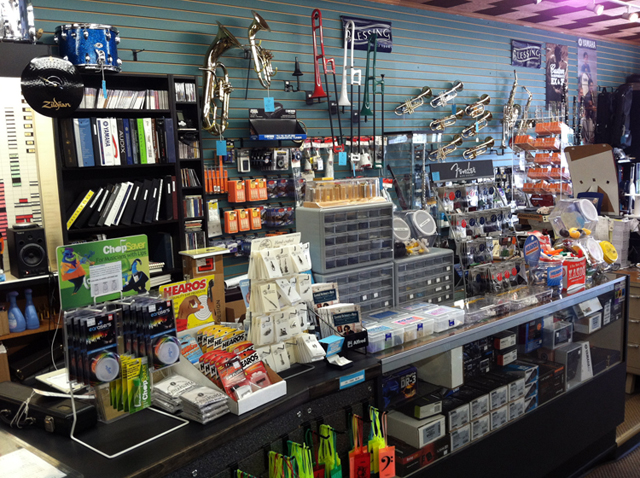 Plenty of music accessories at The Symphony Music Shop, North Dartmouth, MA