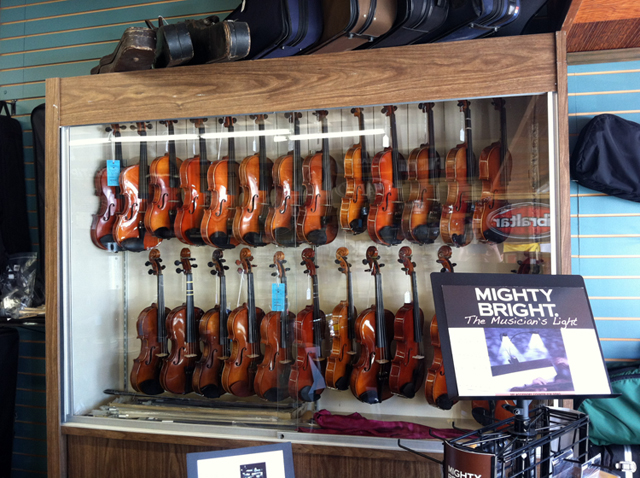 The Symphony Music Shop, North Dartmouth, MA, offers quality string instruments - violins, violas, and cellos